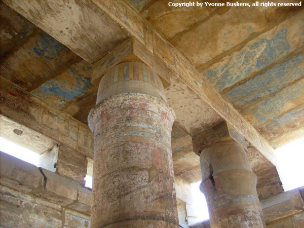 From the interior from the Festival Hall Thutmose III (photo by Yvonne Buskens)