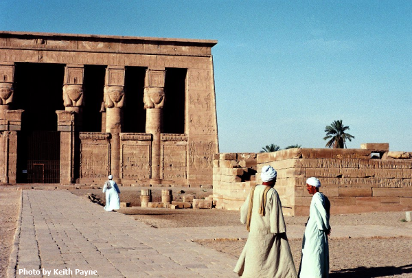 The Temple of Hathor at Dendera (Photo by Keith Payne)