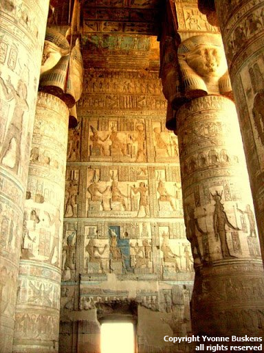 Temple Dendera.  (Photo by Yvonne Buskens, January 2010)