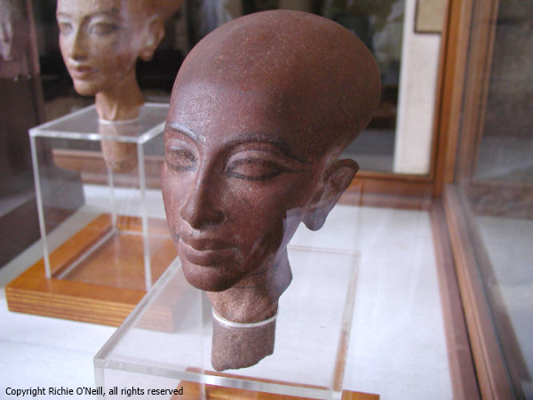 Amarna princess head, from the Egyptian Museum, Cairo. (Richie O'Neill)