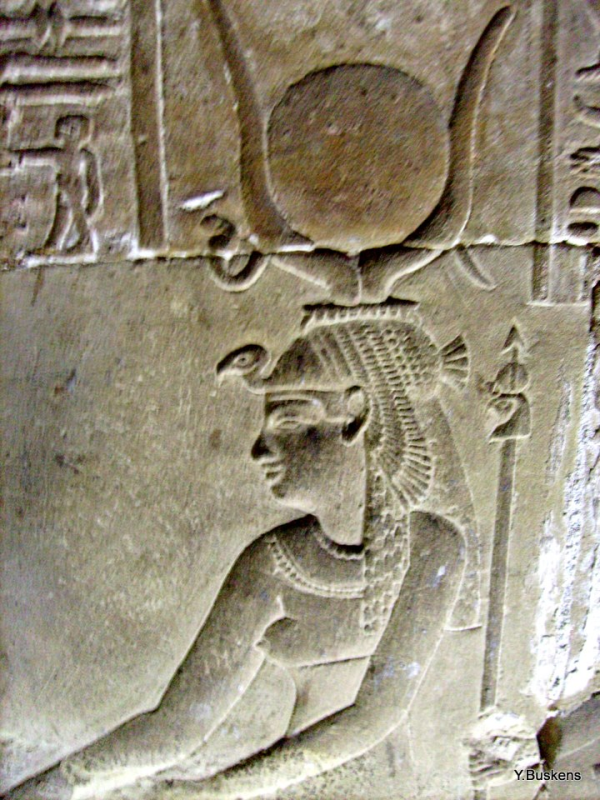Hathor from the crypt at Dendera Temple (Photo by Yvonne Buskens, 2010)