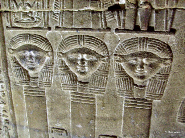 From the crypt at Dendera Temple.  (Photo Yvonne Buskens, January 2010)