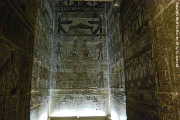 One of the small chapels at Dendera, Temple of Hathor (Photo by Heidi Kontkanen, 2011)