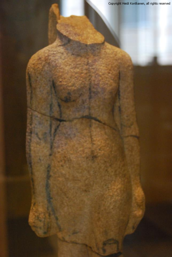Unfinished sandstone statue of Nefertiti. 18th dynasty, Amarna (ÄM21254). Neues Museum, Berlin.  (Heidi Kontkanen)