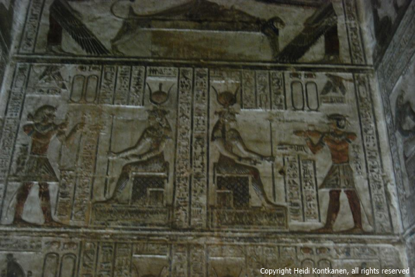 Detail of one of the small chapels at Dendera (Photo by Heidi Kontkanen, 2011)