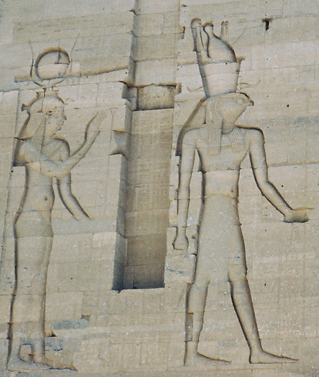 Hathor and Horus at Philae (Photo by Keith Payne)