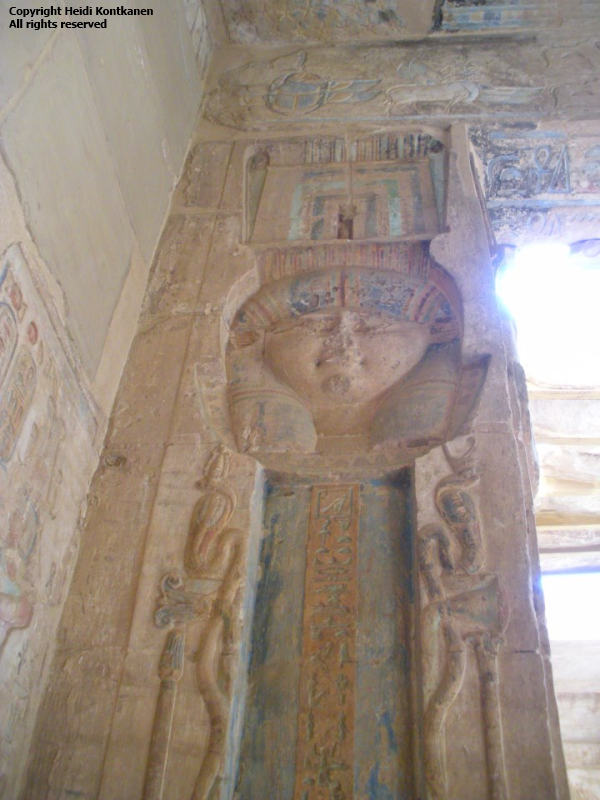 From the Hathor Temple at Deir el Medina. Ptolemaic period. Photo by Heidi Kontkanen, 2011)