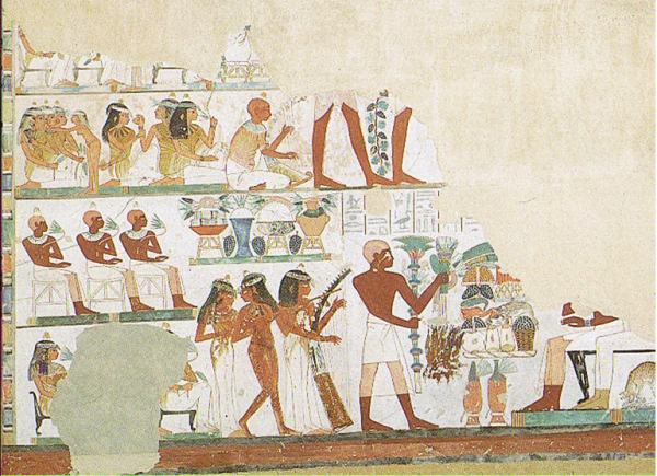 The Beautiful Feast of the Valley, scene from the tomb of Nakht (TT52)