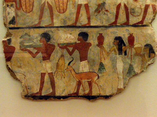 From the tomb of Metchetchi (Sixth Dynasty), a procession for a feast might have looked this way (Photo by Keith Payne)