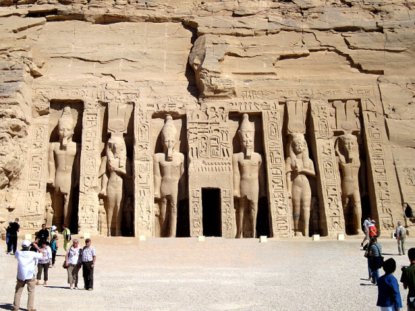 The Temple of Hathor of Abshek at Abu Simbel.  Photo by Olaf Tausch, shared under the Creative Commons license.