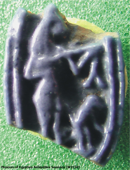 Ring bezel from Amarna, woman musician with monkey (Carolyn Graves-Brown, contrib)