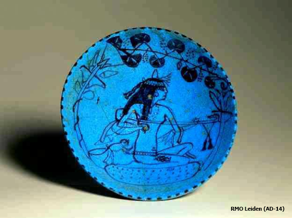 Wine bowl featuring a female lute player (Yvonne Buskens, contrib.)
