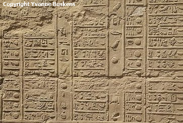 Festival calendar at Kom Ombo, from the reign of Ptolemy VI Philopater, 170 BC (Photo by Yvonne Buskens)