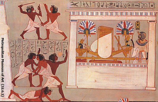 Painted Festival Scene, Tomb of Amenmose, Nineteenth Dynasty, reproduced by Charles K. Wilkinson (Yvonne Buskens, contrib.)