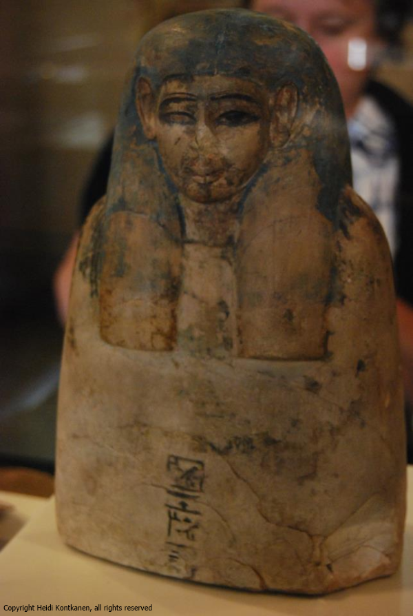Ancestral bust from Deir el-Medina mentioning the goddess Hathor (ÄM20994). New kingdom, Neues Museum, Berlin (Photo by Heidi Kontkanen).