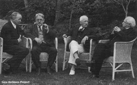 Herman Junker, George Reisner, James Henry Breasted and Ludwig Borchardt (Giza Archives Project)