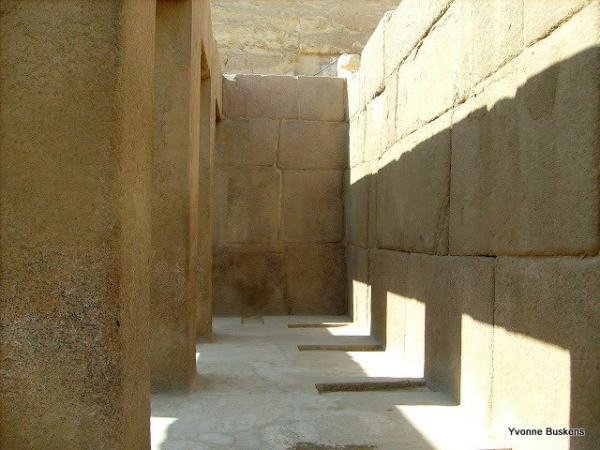 "Khafre's Valley Temple, which Reisner called the ""Sphinx Temple"" before the actual Sphinx Temple was discovered (Photo by Yvonne Buskens)"