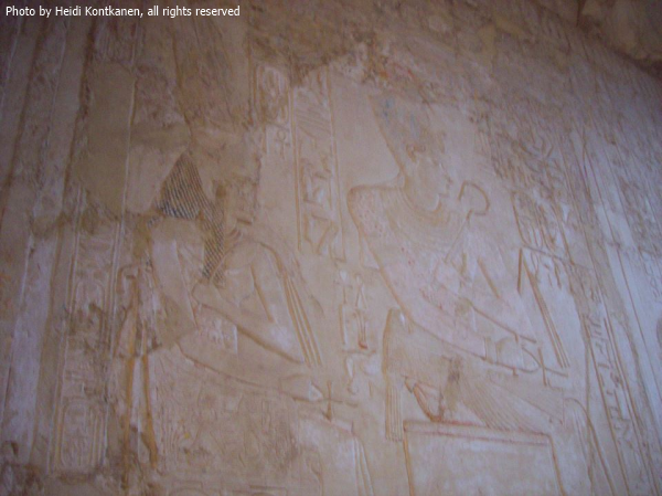Tiye and Amenhotep III, from the tomb of Kheuref—TT192—taken in 2008 (Photo by Heidi Kontkanen)