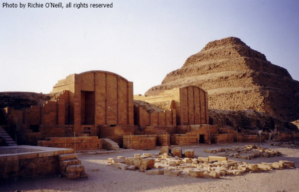 Djoser's Step Pyramid complex, wall and Chapels (Photo by Richie O'Neill)