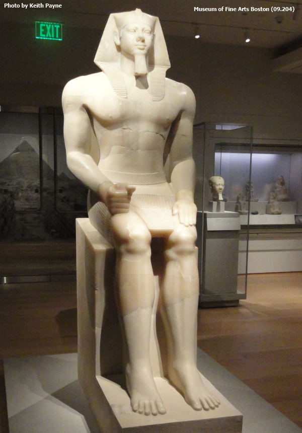 Alabaster colossus of Menkaure (Photo by Keith Payne)