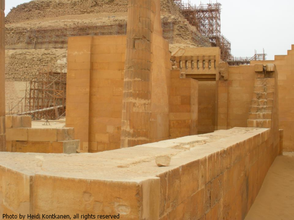 A view within the T-Temple of Djoser's complex (Photo by Heidi Kontkanen)