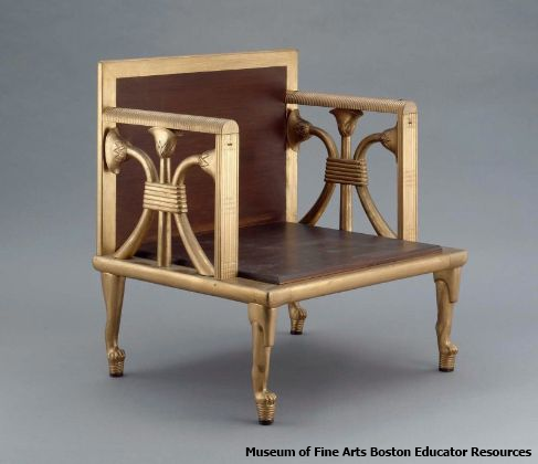The restored lotus chair (Museum of Fine Arts Boston Educator Resources)