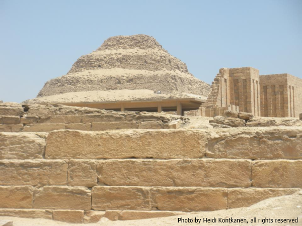 Djoser's Pyramid from Unas' Causeway (Photo by Heidi Kontkanen, 2010)