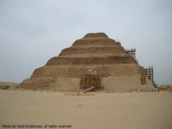 Djoser's Step Pyramid while undergoing restoration work (Photo by Heidi Kontkanen)