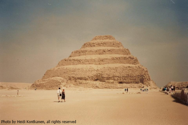 The Step Pyramid from the South Court (Photo by Heidi Kontkanen)
