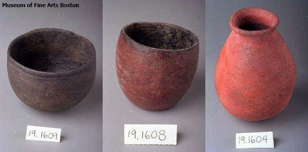 Nubian pottery from Reisner's excavations (Museum of Fine Arts Boston)