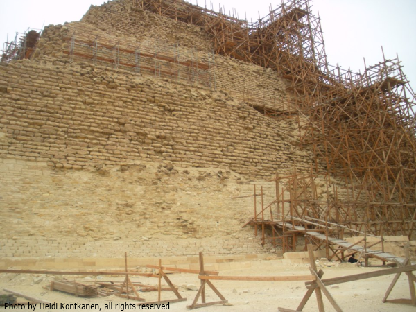 The east side of Djoser's Pyramid in 2011 (Photo by Heidi Kontkanen)