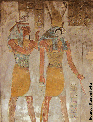 Geb and Horus from tomb KV14 (Source: Kairoinfo4u)