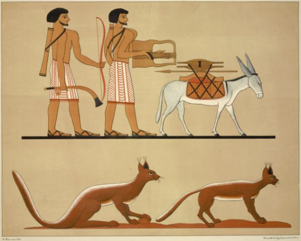 "Copied from the tomb of Beni Hassan, from Champollion's ""Monuments de l'Égypte et de la Nubie"" (Public domain)"