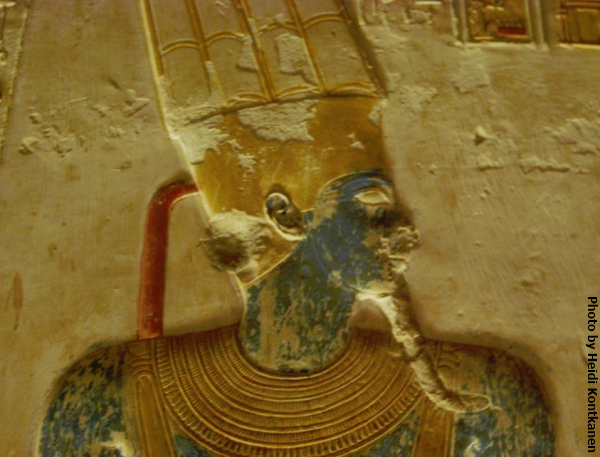 Amun at the Temple of Seti I at Abydos. (Photo by Heidi Kontkanen, 2011)