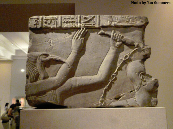 Philae Temple Relief of Thoth lustrating a Roman emperor c. 41 AD from Metropolitan Museum of Art (Photo by Jan Summers)