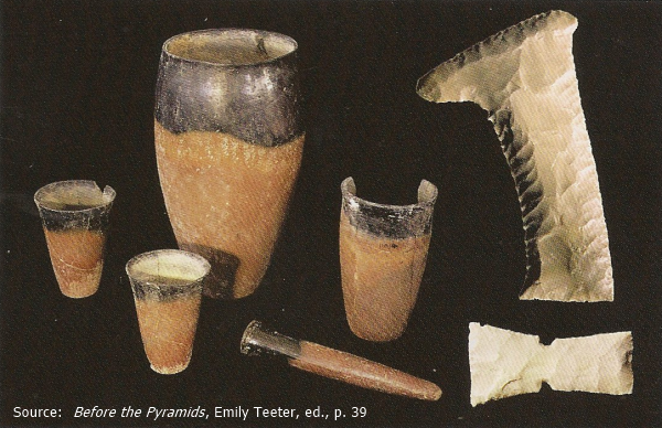 Selection of objects from the subsidiary graves around Tomb 16