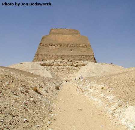 Causeway to the Meidum Pyramid (Photo by Jon Bodsworth)