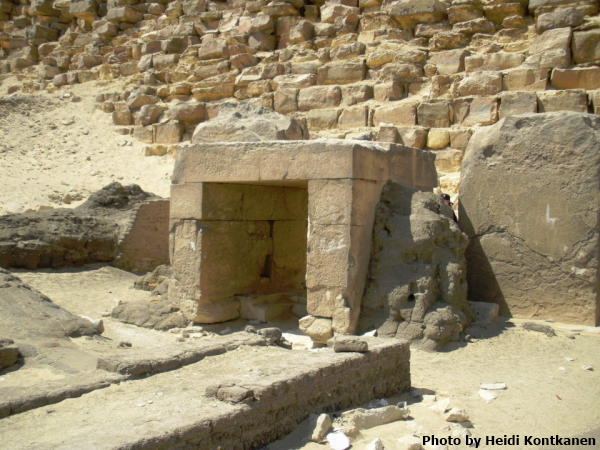 Eastern chapel of the Bent Pyramid (Photo by Heidi Kontkanen)