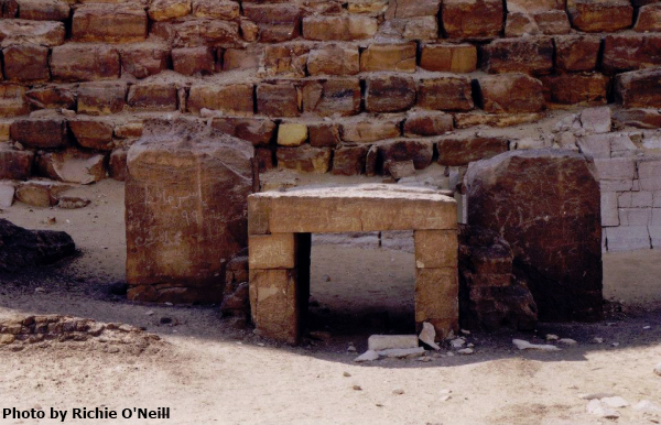 Offering table chapel at the Bent Pyramid (Photo by Richie O'Neill)