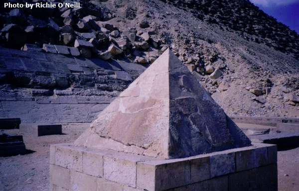 The pyramidion of the Red Pyramid (Photo by Richie O'Neill)