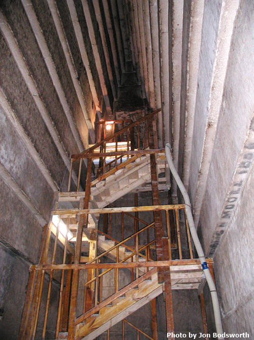 Corbelling in the second chamber of the Red Pyramid (Photo by Jon Bodsworth)