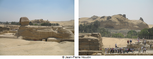 The Sphinx with, in the background, the Hill of the Crows with its outcrops
