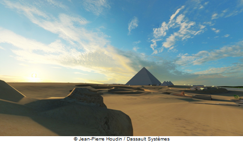 The Giza Plateau at the end of Khufu's reign