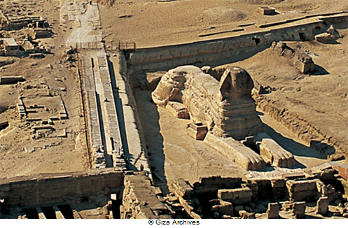 The Khafre's Royal Causeway drove the water runoff towards the pit of the Sphinx