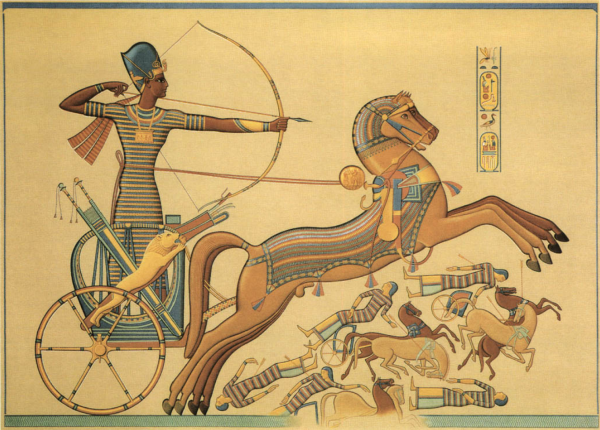 NKC - 002 Ramesses the Great making use of his mobile command platform against the Hittites