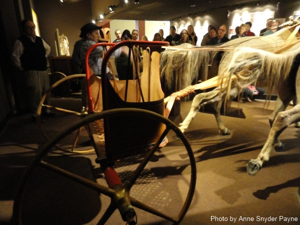 The four-spoke wheel on the New Kingdom chariot at the International Museum of the Horse (photo by Anne Snyder Payne)