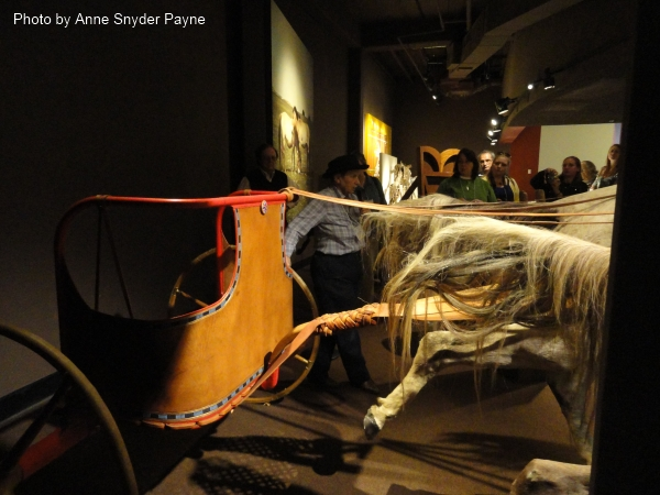 Right front flank of the New Kingdom chariot at the International Museum of the Horse (photo by Anne Snyder Payne)