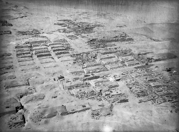 Western cemetery: general view, including cemeteries G 4000, G 5000, G 2300, and G 2100, looking west-northwest from Khufu pyramid, Courtesy of Digital Giza: The Giza Project at Harvard University/Museum of Fine Arts Boston, photo ID HUMFA_A1080_NS.