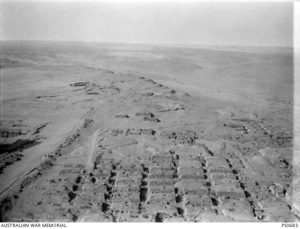 View of the Western Cemetery, courtesy of the Australian War Memorial, with special thanks to Sarah Shepherd.