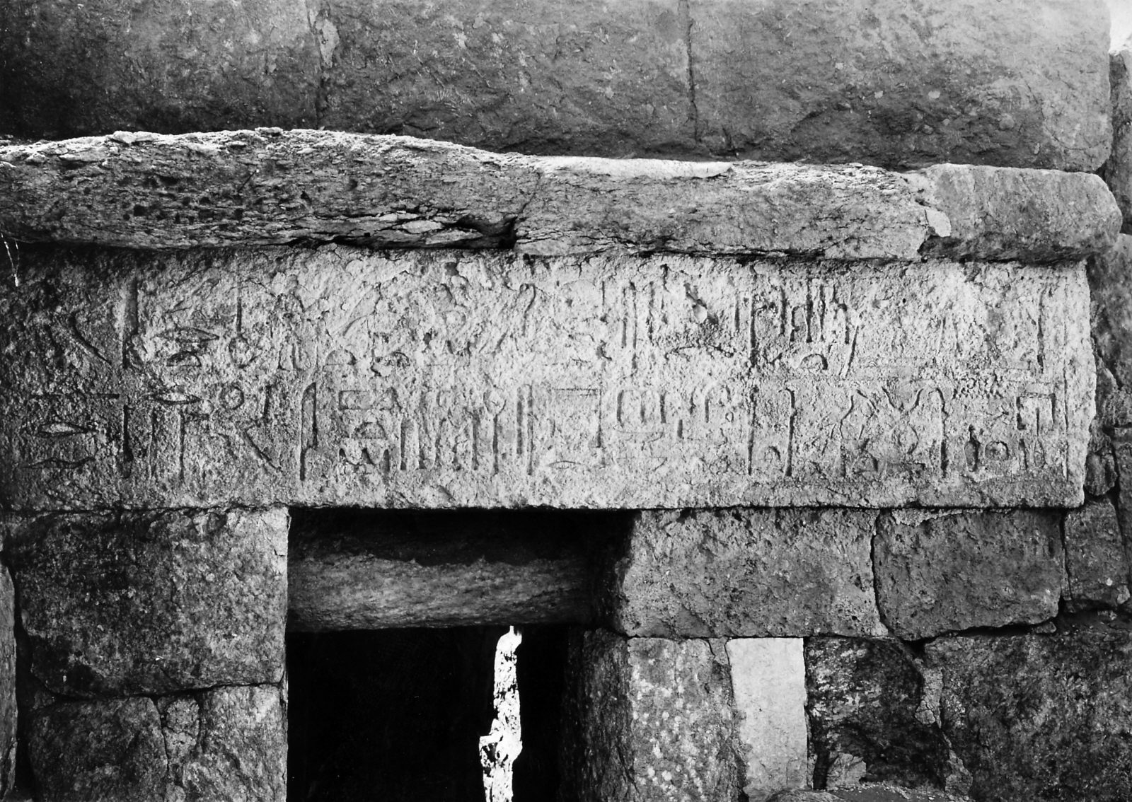 Mastaba of Sinefer, chapel entrance, lintel inscribed for Sinefer, looking south. Photo ID KHM_AEOS_II_2837, photo and description courtesy of the Giza Archives maintained by Harvard University and the Museum of Fine Arts Boston, online at Digital Giza.